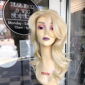 Accessories - Fulllace Wig Blonde 613 Romance Curls Swisslace